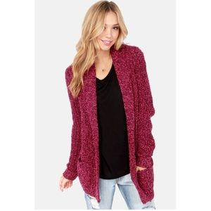Burgundy and Pink Olive & Oak Sweater